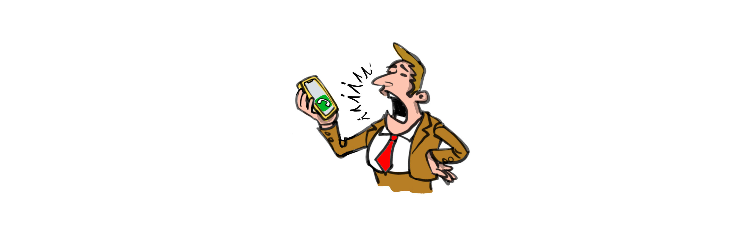 Person on mobile phone